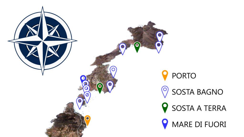 AsinaraFun mappa soste